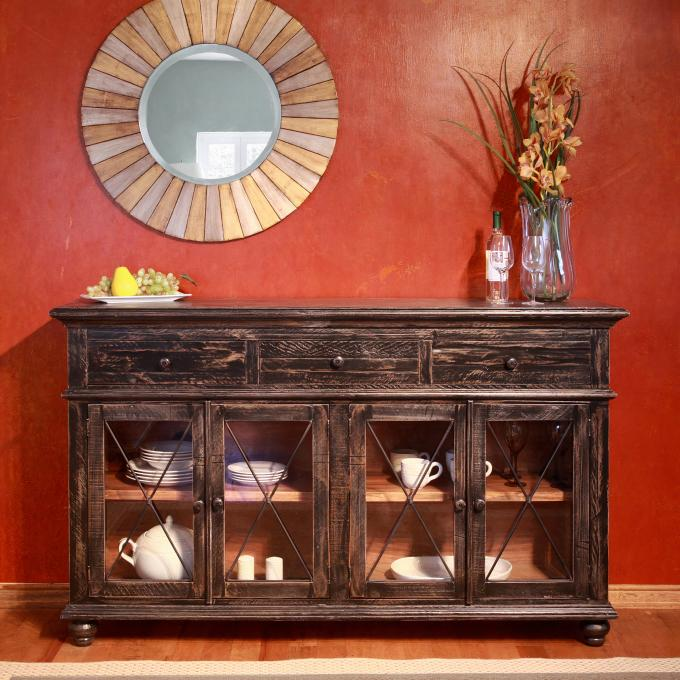 Bugiri 70 Quot Buffet In Black Jerome S Furniture